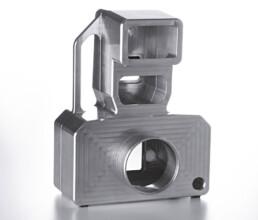 Kameragehaeuse aus Aluminium Vollmaterial