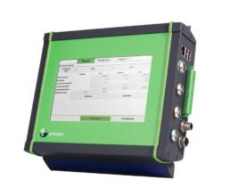 Aluminium Strangpressprofil mit Display in grün