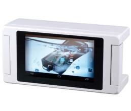 Alugehäuse mit Touchscreen