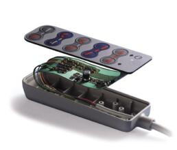 Handgehäuse mit Folientastatur und Elektronik