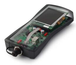 Handgehäuse mit Elektronik und Display