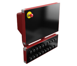 Industrie PC Gehaeuse mit Display und Eingabetasten
