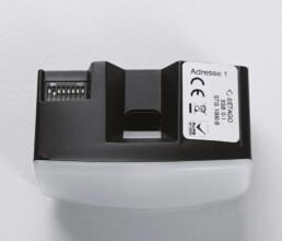 Sensorgehaeuse mit Elektronikeinbau
