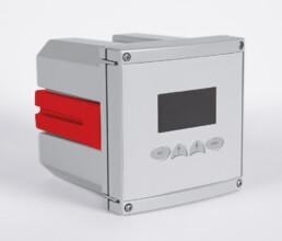 Aluminiumdruckguss Gehäuse mit Folientastatur in grau