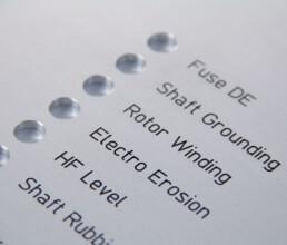 Aluminium Frontplatte graviert und Schrift schwarz ausgelegt
