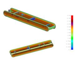 Moldflow Analyse eines Kunststoffspritzgussteiles vor dem Werkzeugbau