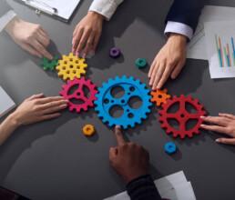 Kommunikation Zusammenarbeit Konzept