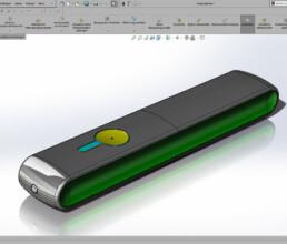 CAD Konstruktion eines LoRaWan Sensorgehäuses im Kunststoffspritzgussverfahren